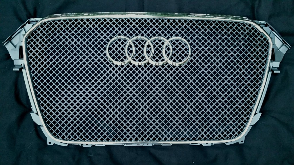 AUDI A4 (B8.5)  (2013-2016) Main Grille - GOTHIC Style Weave in Flat Black Powder Coat Color Finish