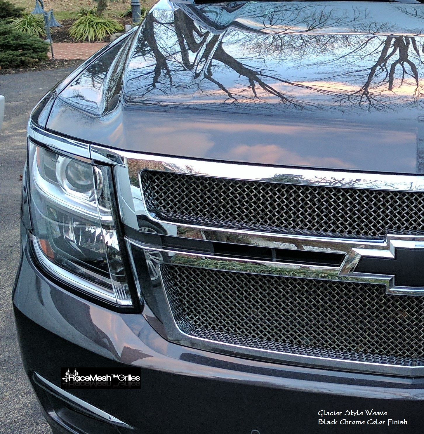 CHEVY Tahoe/Suburban Upper Grille  (2015- )  GLACIER Style weave