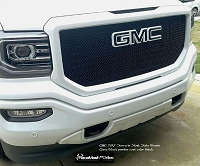 GMC Sierra (2016 - 2018 ) Upper Main Grille  GOTHIC Style weave