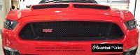 Ford Mustang S550 Cervini Ram Air Hood Inserts in Gothic Style Weave