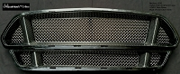 Ford Mustang S550 Upper and Lower 3-Chamber Version RaceMesh Grilles SET - STOUT Style Weave