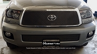 TOYOTA Sequoia (2008-2017) Upper Grille & Lower Valance Grille (OPTION to add) - GOTHIC Style weave