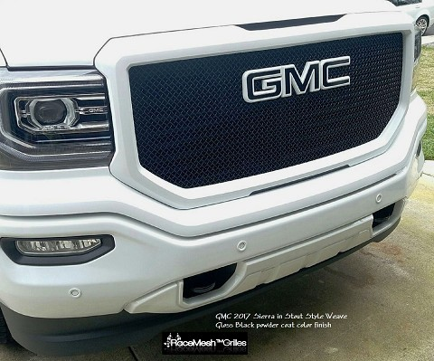 GMC Sierra (2016 -  ) Upper Main Grille  GOTHIC Style weave