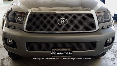 TOYOTA Sequoia (2008-2017) Upper Grille & Lower Valance Grille (OPTION to add) - GLACIER Style weave