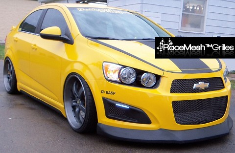 Chevy Sonic Left & Right Fog Light Bezels in Original Style Weave