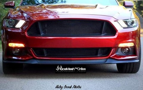 Ford Mustang S550 (2015-2017) Upper and Lower 3-Chamber Version RaceMesh Grilles SET - Original Style Weave